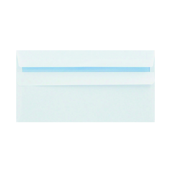 White Plain Q-Connect DL Envelopes Plain Wallet Peel and Seal 100gsm White (500 Pack) 1P04