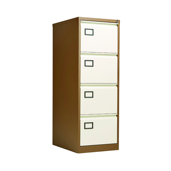 Four Drawer Jemini 4 Drawer Filing Cabinet Coffee/Cream KF03002