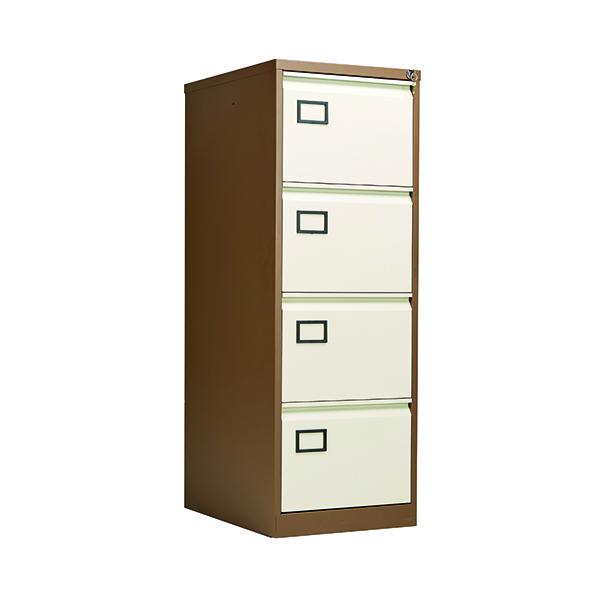 Jemini 4 Drawer Filing Cabinet Coffee/Cream KF03002