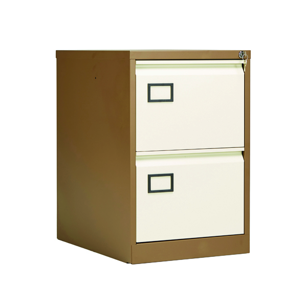 Two-Drawer Jemini 2 Drawer Filing Cabinet Coffee/Cream KF03006