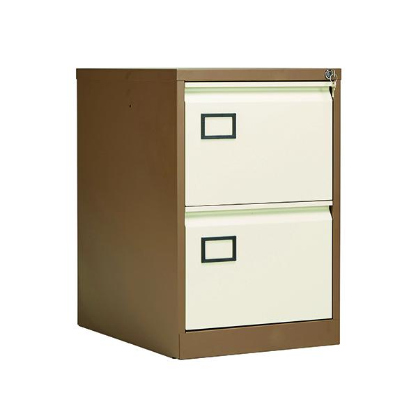 Jemini 2 Drawer Filing Cabinet Coffee/Cream KF03006