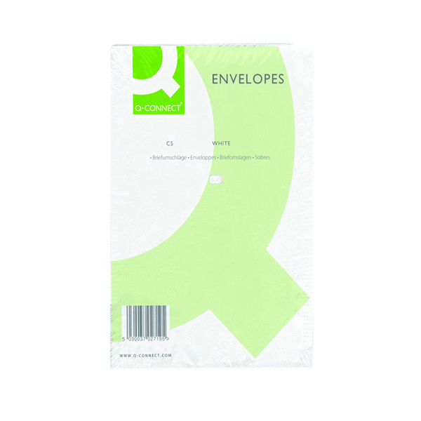 Q-Connect C5 Envelopes Pocket Peel and Seal 100gsm White (500 Pack) KF03289