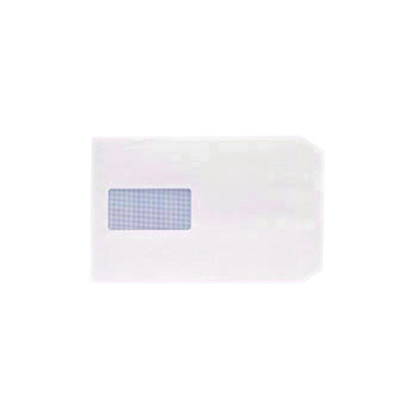 Q-Connect C5 Envelopes Window Pocket Peel and Seal 100gsm White (500 Pack) IP53