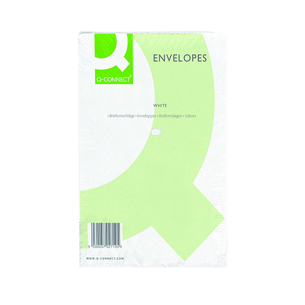 White Plain Q-Connect C4 Envelopes Peel and Seal 100gsm White (250 Pack) 1P27