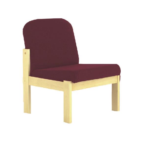 Arista Claret Beech Veneer Reception Seat KF03324