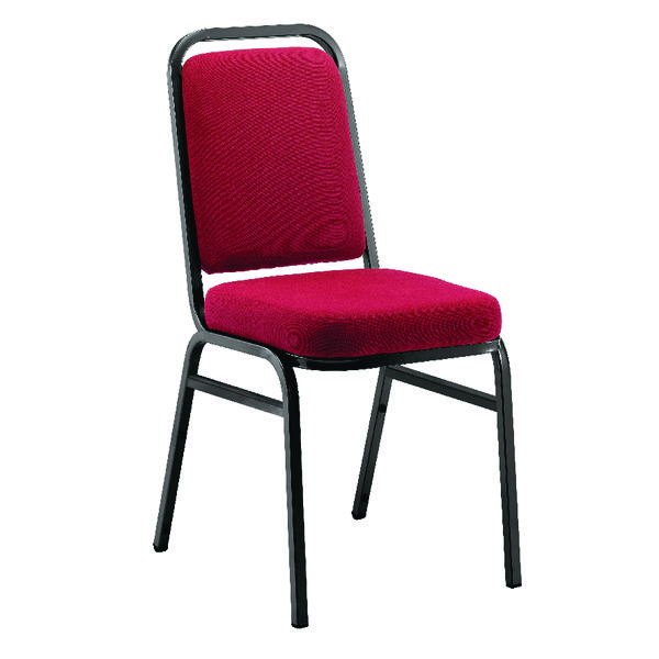 Stacking Arista Banqueting Claret Chair KF03338