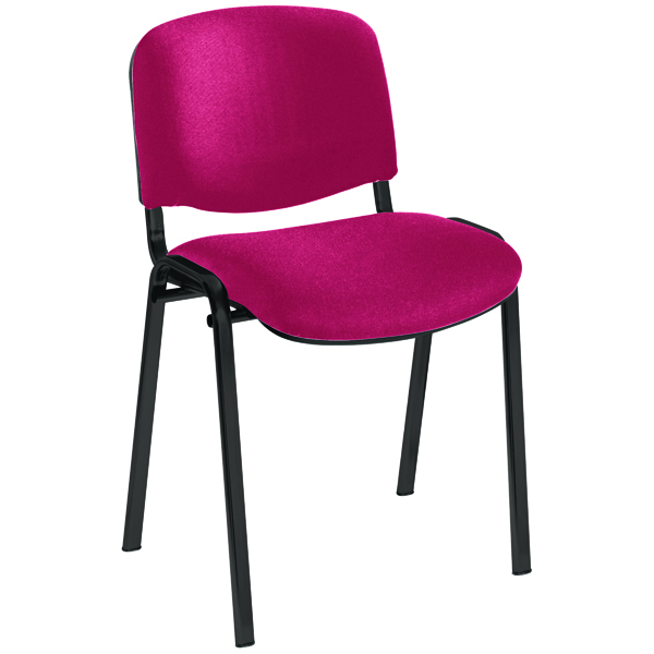 Stacking Jemini Ultra Multi Purpose Stacking Chair Claret/Black KF03345