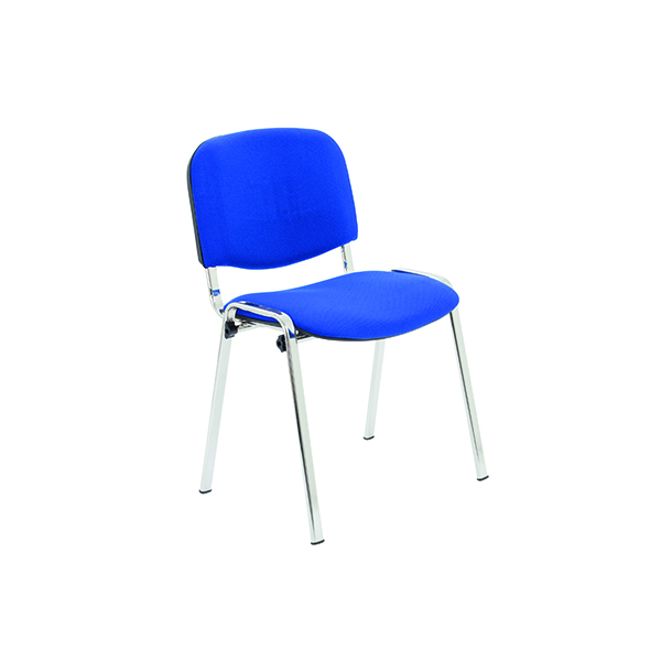 Stacking Jemini Ultra Multi Purpose Stacking Chair Chrome/Blue KF03349