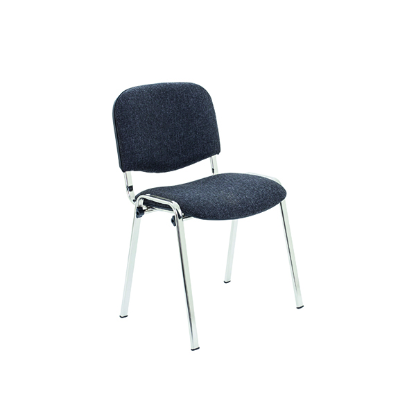 Stacking Jemini Ultra Multi Purpose Stacking Chair Charcoal/Chrome KF03350
