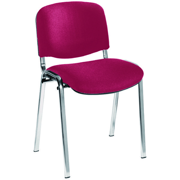 Stacking Jemini Ultra Multi Purpose Stacking Chair Claret/Chrome KF03351