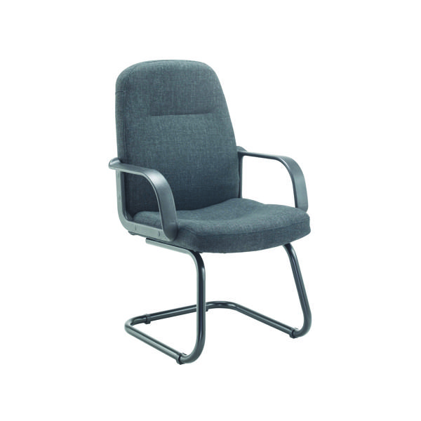 Reception Chairs Jemini Visitor Cantilever Leg Chair Charcoal KF03425