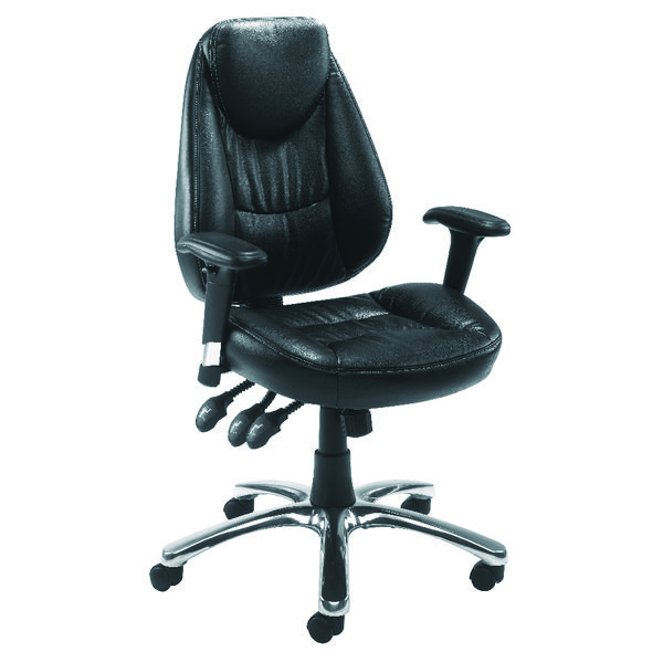 High Back Avior Calabria Leather Look Operator Chair KF03434