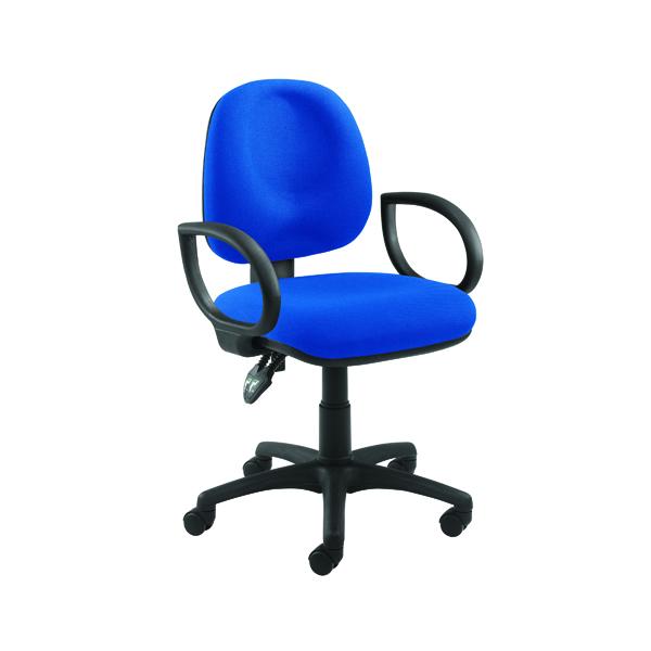 Arista Concept Medium Back Permanent Contact Operator Blue Chair KF03452