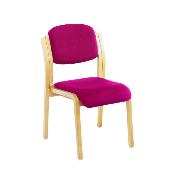 Unspecified Jemini Claret Wood Frame Side Chair No Arms KF03513