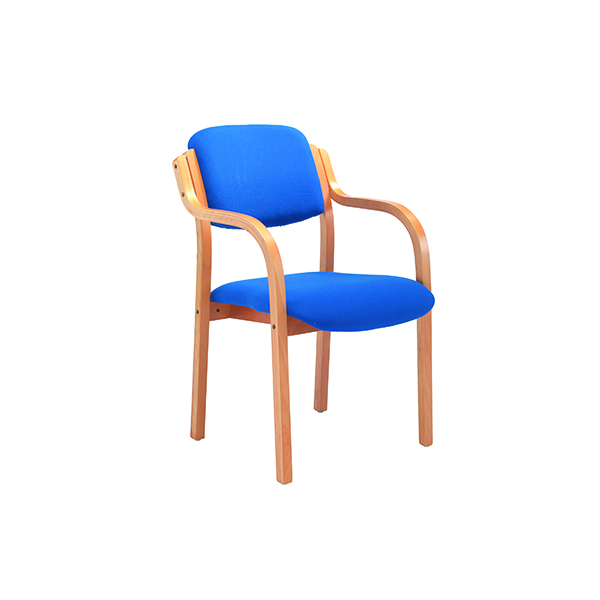 Chairs with Arms Jemini Blue Wood Frame Side Chair With Arms KF03514
