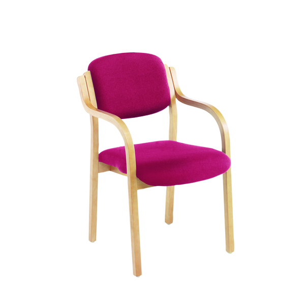 Chairs with Arms Jemini Claret Wood Frame Side Chair With Arms KF03515