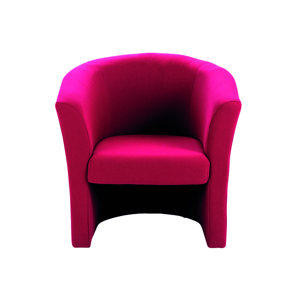 Reception Chairs Arista Claret Tub Chair Fabric KF03523
