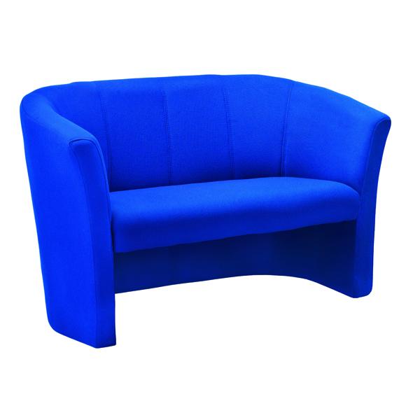 Reception Chairs Avior Blue 2 Seat Fabric Tub Sofa KF03524