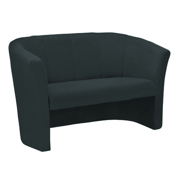 Reception Chairs Arista Charcoal Fabric 2 Seat Tub KF03525