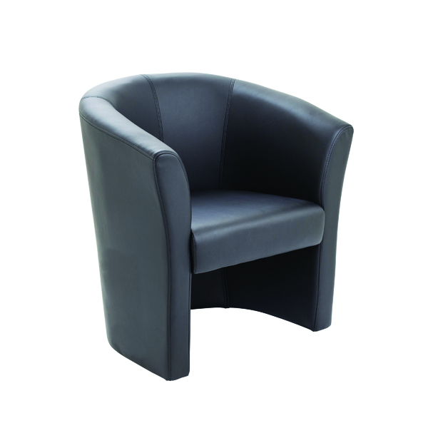 Unspecified Avior Black Vinyl Tub Chair KF03527
