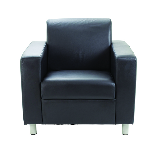 Unspecified Avior Black Leather Faced Executive Reception Arm Chair KF03529