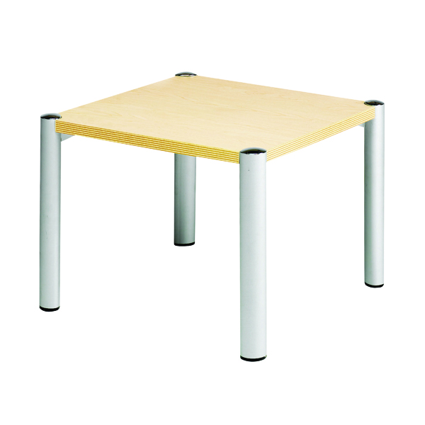 Reception Avior Beech 635x635x460mm Square Table KF03531