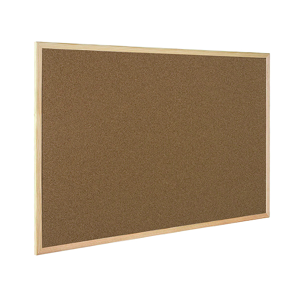 Cork Q-Connect Lightweight Cork Noticeboard 600x900mm KF03567