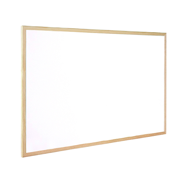 Non-Magnetic Q-Connect Wooden Frame Whiteboard 400x300mm KF03569