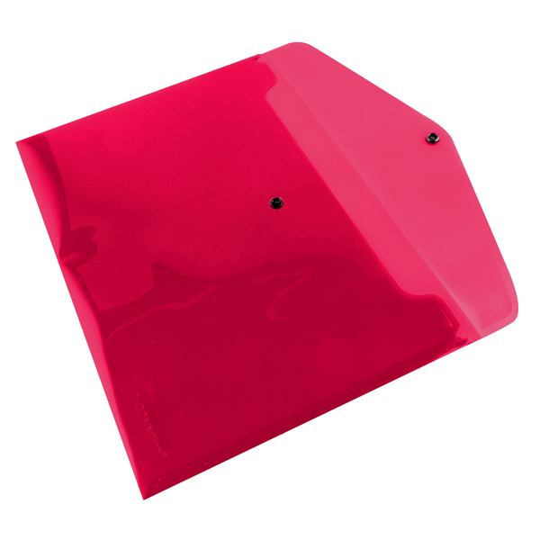 Q-Connect Polypropylene Document Folder A4 Red (12 Pack) KF03594