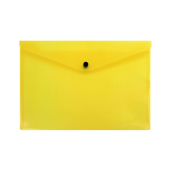 A4 Q-Connect Polypropylene Document Folder A4 Yellow (12 Pack) KF03595