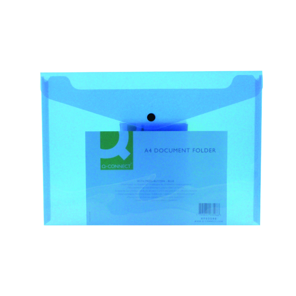 A4 Q-Connect Polypropylene Document Folder A4 Blue (12 Pack) KF03596