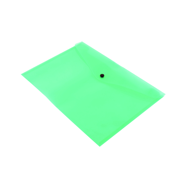 A4 Q-Connect Polypropylene Document Folder A4 Green (12 Pack) KF03597