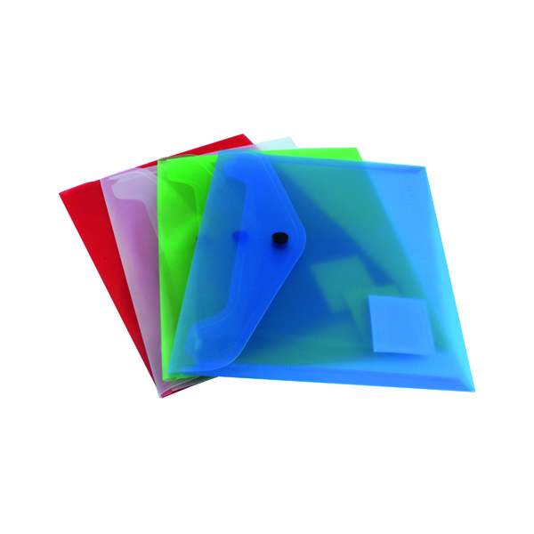 A5 Q-Connect Polypropylene Document Folder A5 Assorted (12 Pack) KF03609