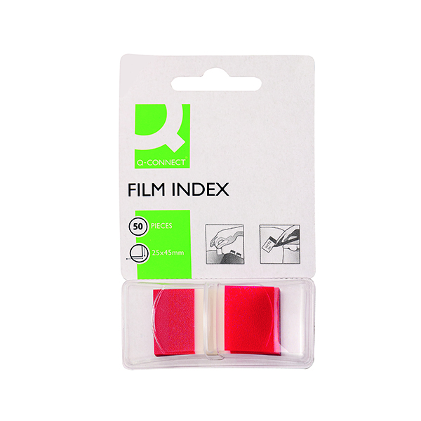 Tabs Q-Connect Page Marker Red (50 Pack) KF03633