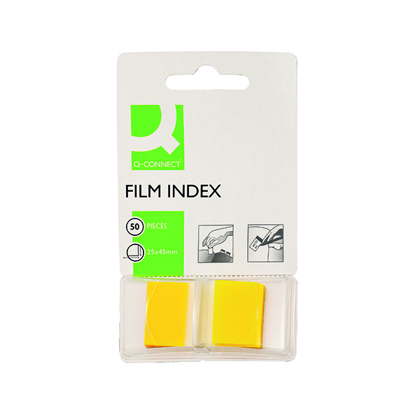 Tabs Q-Connect Page Marker Yellow (50 Pack) KF03634