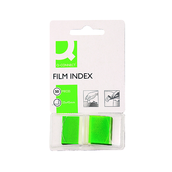 Tabs Q-Connect Page Marker Green (50 Pack) KF03635