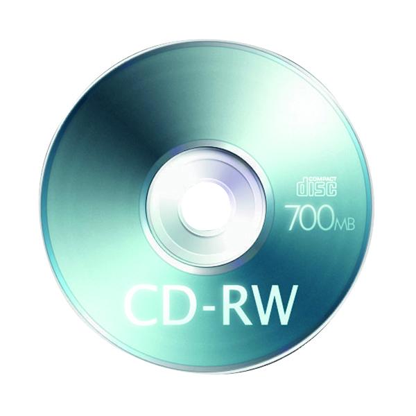 Blu Ray Q-Connect CD-RW Slimline Jewel Case 80mins 700MB KF03718