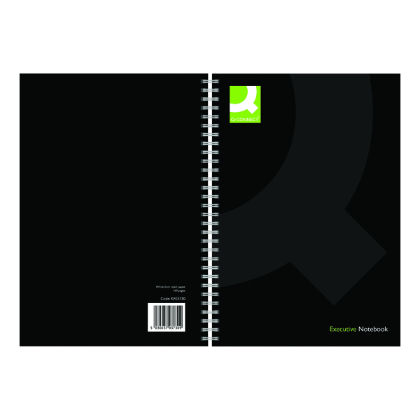 A5 Q-Connect Polypropylene Wirebound Book A5 Black (3 Pack) KF03730