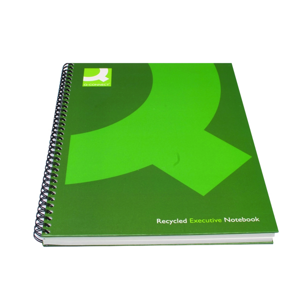 Q-Connect Recycled Wirebound Notebook A5 Green (3 Pack) KF03732