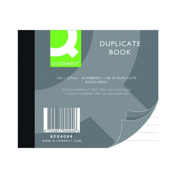 Q-Connect Feint Ruled Duplicate Book 102x127mm KF04094