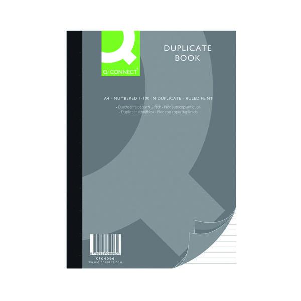 Q-Connect Feint Ruled Duplicate Book A4 KF04096
