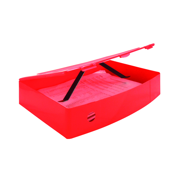 Foolscap (Legal) Size Q-Connect Polypropylene PolyBox File Foolscap Red KF04104