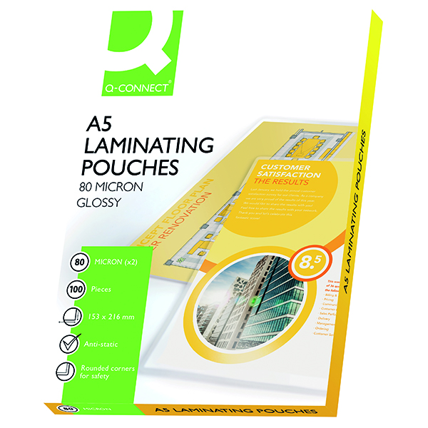 A5 Q-Connect A5 Laminating Pouch 160 Micron (100 Pack) KF04106