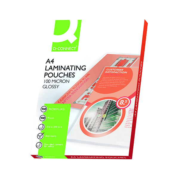 A4 Q-Connect A4 Laminating Pouch 200 Micron (100 Pack) KF04115