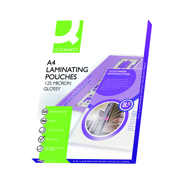 A4 Q-Connect A4 Laminating Pouch 250 Micron (100 Pack) KF04116