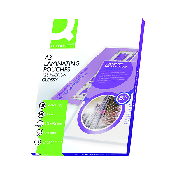 A3 Q-Connect A3 Laminating Pouch 250 Micron (100 Pack) KF04124