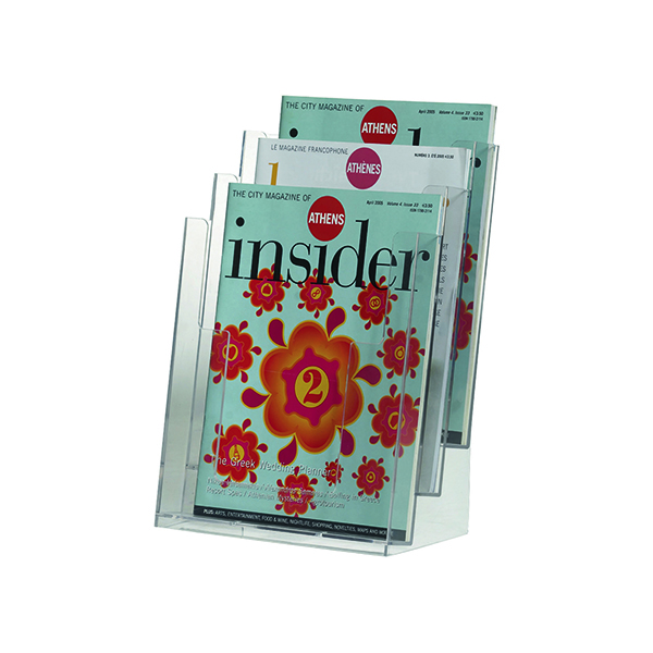 Literature Holders Q-Connect Three Pocket Literature Holder A4 KF04188
