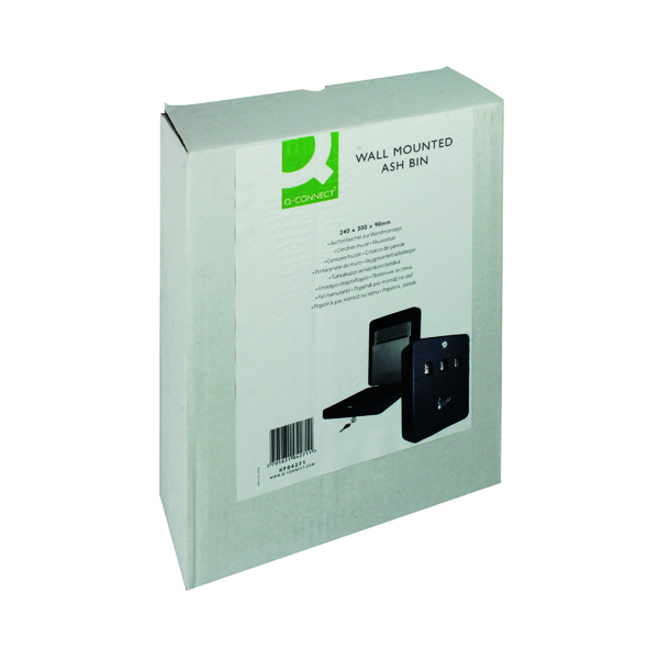 Ash Bins Q-Connect Ash Bin Black 2.7 Litre KF04271