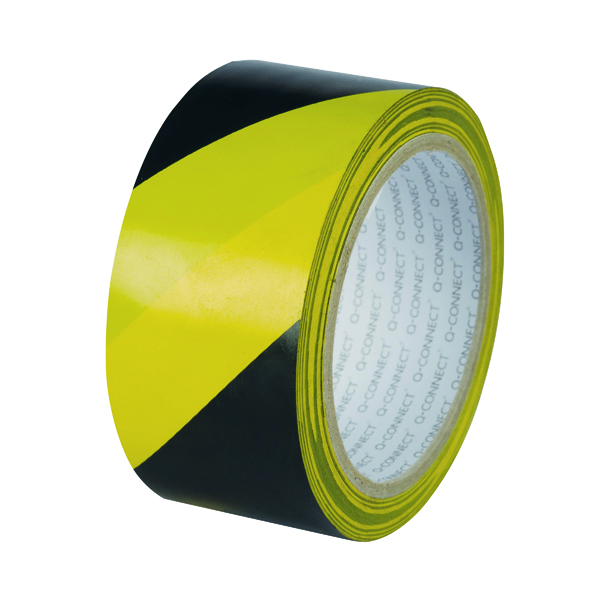 Q-Connect Yellow Black Hazard Tape (6 Pack) KF04383