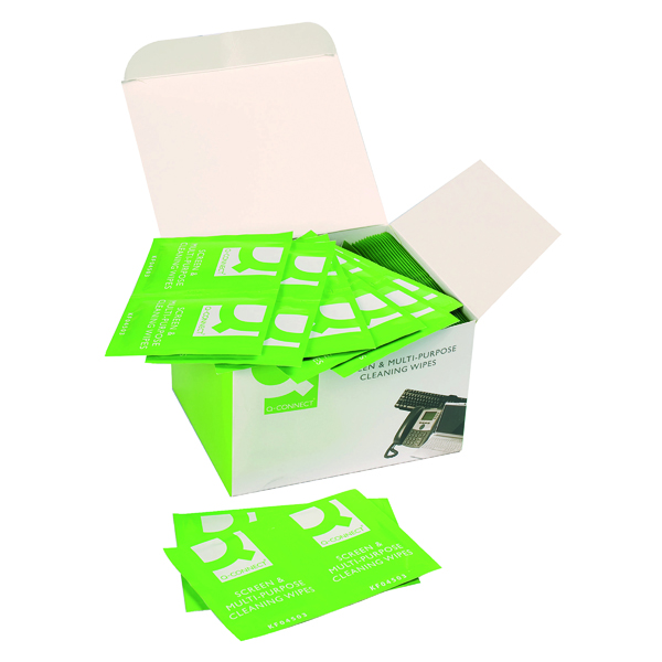 Screen Q-Connect Screen & Multi-Purpose Wipes (100 Pack) KF04503